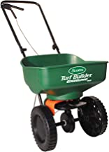 Scotts Turf Builder EdgeGuard Mini Broadcast Spreader - Spreads Grass Seed, Fertilizer and Salt - Holds up to 5,000 sq. ft...