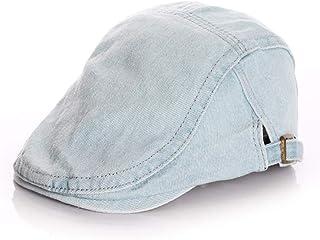 JJSPP Denim Kids Hat for Boys Girls Classic Vintage Adjustable Baby Hat Autumn Winter Kids Beret Hat (Size : Large)