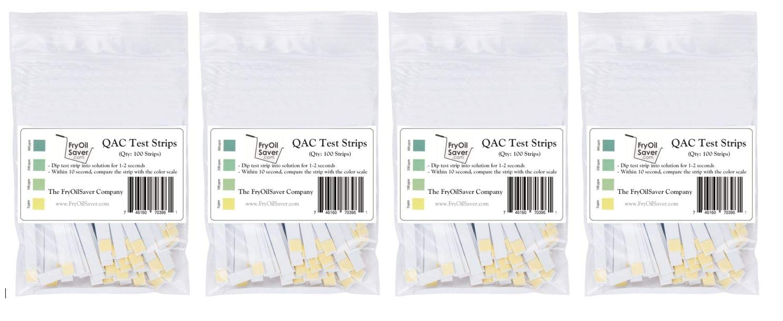 All Max 64% OFF items in the store QAC Test Strips 4 x Restaurant 100 Ammonium Quaternary