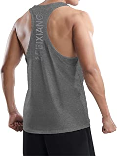MEETWEE Men's Vest Tank Top, Y-Back Sleeveless Sports T Shirt Athletic Undershirt Muscle Gym Vests Tops for Running Workou...