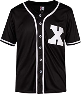 MOLPE X Mark Baseball Jersey S-XXXL Black, 90S Hip Hop Clothing for Party, Stitched Logo