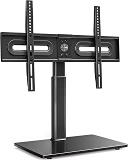 FITUEYES Pedesal TV Stand for 32 to 65 inch LCD LED OLED 4K Plasma TVs- Swivel 80 Degrees and 4 Heights Adjustable with Ca...