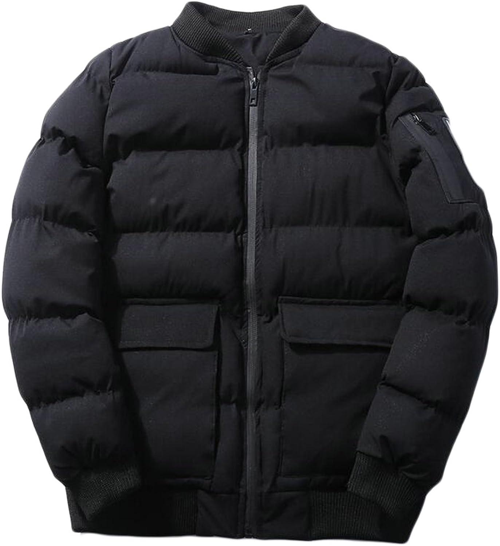 FLCH+YIGE FLCH+YIGE FLCH+YIGE Men Bomber Jacket Puffer Coat Winter Outerwear Padded Overcoat 07d599