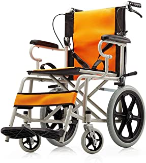 Lightweight Folding Wheelchair Disabled Elderly Free Inflatable Ultralight Portable Travel Driving Medical Supplies fj SZWHO