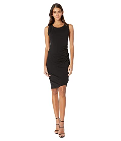 bobi Los Angeles Supreme Jersey Ruched Bodycon Dress (Black) Women