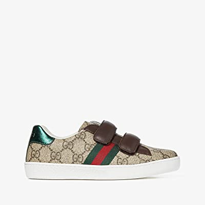 Gucci Kids New Ace V.L. Sneakers (Little Kid) (Beige/Multi) Kids Shoes