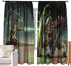 Thermal Insulated Blackout Curtain Anime,Animal Comics Superheros with Dangerous Wildlife Powers Goat with Rays Design Print,Multicolor W84 x L84 inch,Adorable