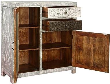 Modern Vivid Mango Wood Accent Storage Small Cabinet Handicraft (Made to Order)