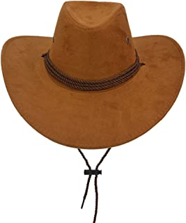 Adult Western Suede Hat Cowboy Outdoorsman Hat Travelling Summer Cap