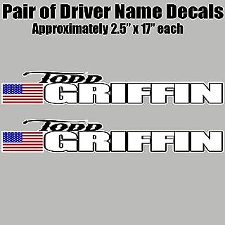JRS Decals Racecar Driver Name Vinyl Decal Set - Late Model, Rallycross Rally Car, Dirt Car