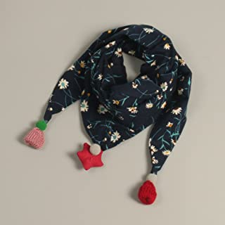 JHD Los Niños Bufandas Otoño E Invierno Triángulo Niños Bufanda Floral Bebé Cuello Conjuntos Bebé Baberos Niños Y Niñas Bufandas de Moda