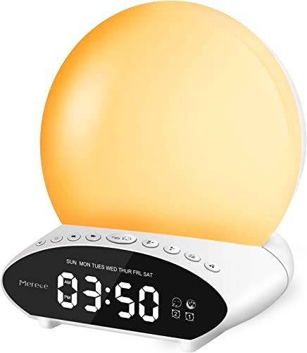 popular Sound Machine for Sleeping, 6-in-1 7 Colors Night Light with 30 Soothing Sounds, 20 Levels of online Brightness/Volume, online sale for Baby & Adults - Wake Up Lights Sunrise Alarm Clock Light with Snooze & Dual Alarms online
