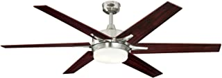 Westinghouse Lighting 7207700 Cayuga 60-inch Brushed Nickel Indoor Ceiling Fan, Dimmable LED Light Kit with Opal Frosted G...