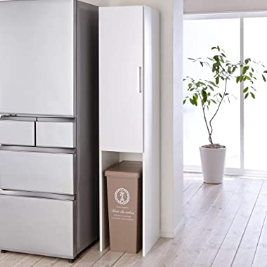 家具 収納 キッチン収納 食器棚 キッチンストッカー 食品ストッカー ゴミ箱上を活用できる下段オープンすき間収納庫 幅35cm 569807