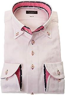 ドレスシャツ ワイシャツ カッターシャツ シャツ STYLE WORKS(スタイルワークス 長袖 綿:100% ボタンダウ ボタンダウン メンズ 柄シャツ 派手シャツ|RLD805-111 [111-S]