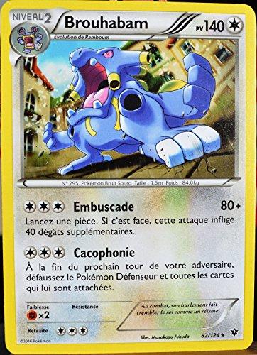 carte Pokémon 82/124 Brouhabam 140 PV XY - Impact des Destins