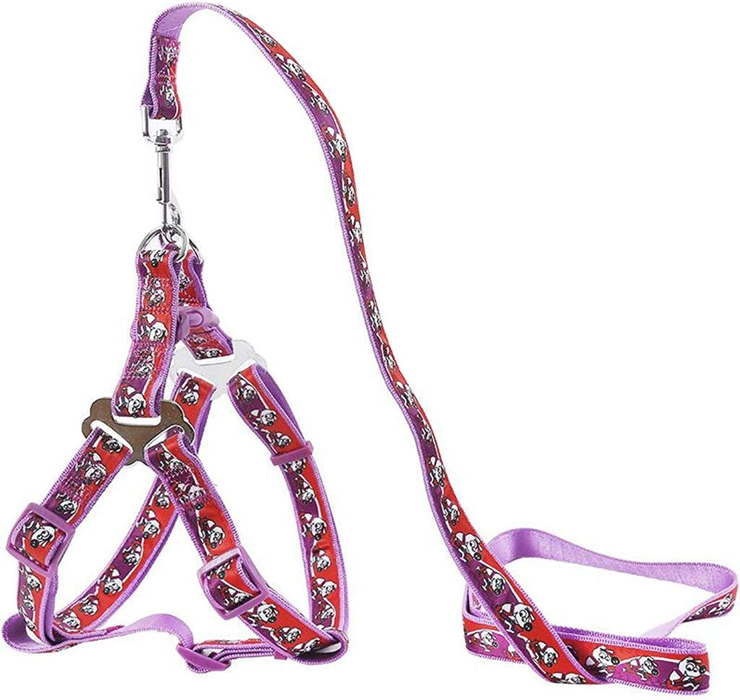 Dog Chain, Dog Leash Pet Chain Nylon Weave Outdoor Sports Training Traction Fashion Soft Comfortable Durable Multi color Optional (bluee Purple Red (color   Purple(A), Size   S)