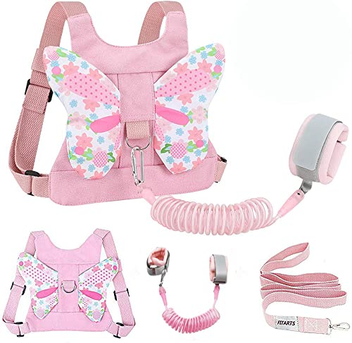 Toddlers Leash + Anti Lost Wrist Link Child Kids Safety Harness Kids Walking Wristband Assistant Strap Belt for Girl ...
