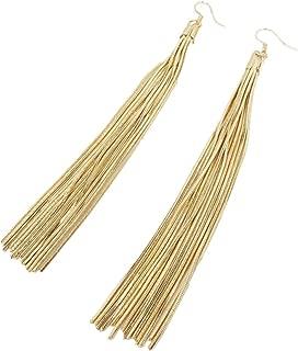 Long Tassel Chain Drop Dangle Earrings for Women Gold Silver Fashion Trendy Jewelry for Women