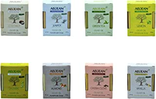Aegean 100% Natural Soap w/Organic Ingredients, Vegan, Moisturizing, Handmade, Scented w/Premium Essential Oils, Body Soap...