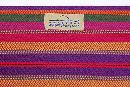 AMAZONAS Babytragetuch Carry Sling Lollipop 510 cm 0-3 Jahre bis 15 kg buntgestreift - 5