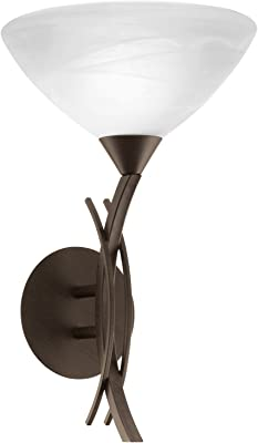 Plafonnier Armature en M/étal couleur bronze pour le salon ou chambre rond avec designe /él/égant de style rustique 40 W E27 220v plafonnier en verre mat 3 ampoules ampoules non incluses