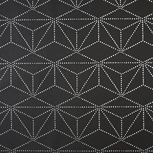Caselio 65109090 behang, geometrisch patroon, violet en grijs