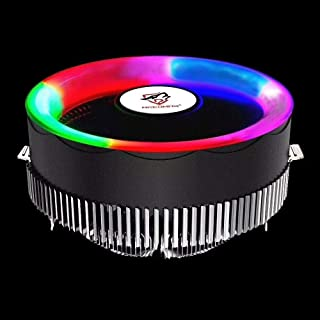 WTYD Computer Accessories 3 Pin Computer Components Chassis Fan Host Silent Cooling Fan with RGB Color Light for Intel: 17...