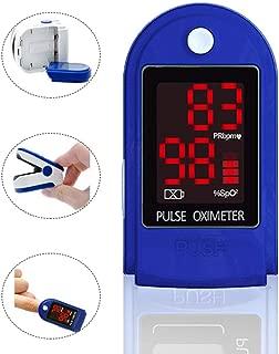 パルスオキシメーター パルス酸素濃度計、指パルス酸素濃度計、ポータブルハートレートモニター ィスプレイ付き酸素濃度計 家庭、運動、旅行に最適