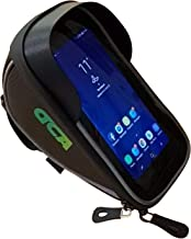 Bike Phone Holder Bag Waterproof Handlebar Mount Storage Pouch by DCA - Bicycle Case Mounts Front Top Tube and Frame Stem - iPhone Xs X 8 7 Plus 6 6s 5s 5, Samsung Galaxy s9 s8 s7 s6 Mobile <6.0 Inch
