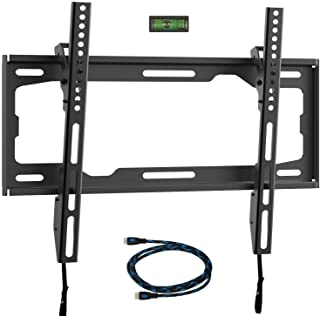 WALI Tilt TV Wall Mount Bracket for Most 26 to 55 inch LED, LCD, OLED Flat Screen TV up to 99 lbs with VESA 100 by 100mm u...