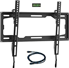 WALI Tilt TV Wall Mount Bracket for Most 26 to 55 inch LED, LCD, OLED Flat Screen TV up to 99 lbs with VESA 100 by 100mm up to 400 by 400mm (TTM-1), Black