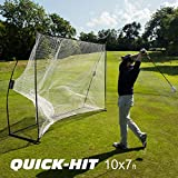 QUICKPLAY Quick-Hit Ultra-Portable Golf Practice Hitting Net (1) Square - 8x8'
