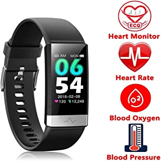 Fitness Tracker, Activity Tracker Watch with Heart Rate MonitorSleep Monitor Blood PressureCall Reminder,IP68 Waterproof Smart Band with Calorie Counter,Pedometer for Kids Men Women and Gift