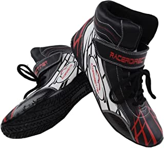 Racerdirect.net Youth/Kids Mid Top Driving SFI 3.3/5 Race Shoes, Size 4