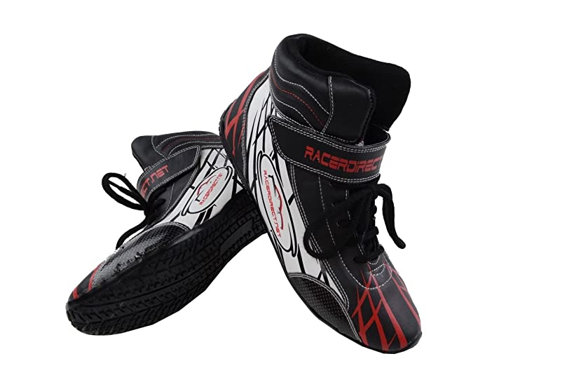 Racerdirect.net Youth/Kids Mid Top Driving SFI 3.3/5 Race Shoes, Size 1