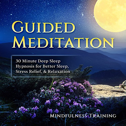 Guided Meditation: 30 Minute Deep Sleep Hypnosis for Better Sleep, Stress Relief, & Relaxation audiobook cover art
