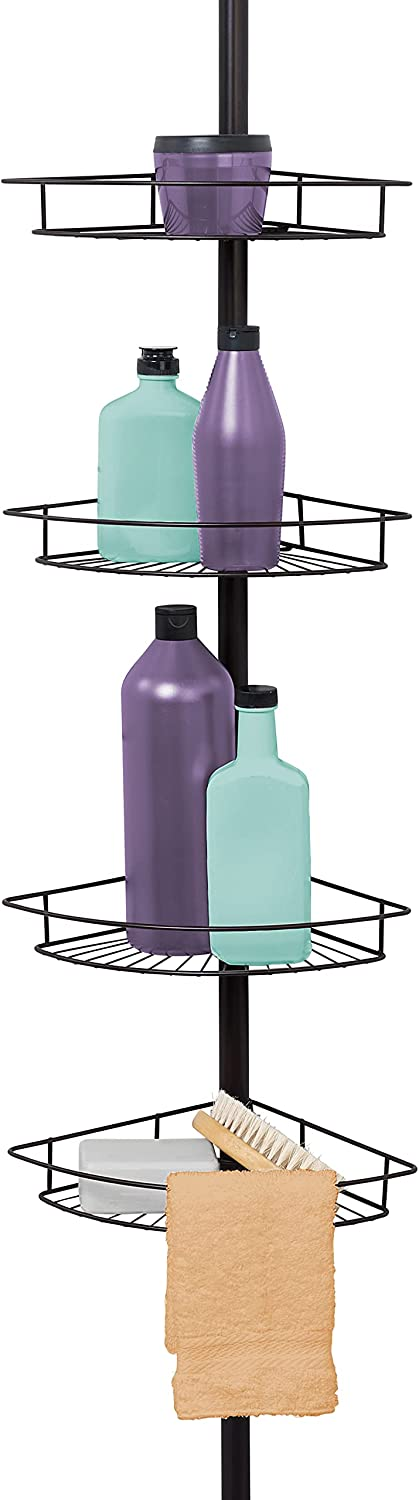 Zenna Home Bronze 2156HB Low price Shower Tier Caddy In a popularity Pole Tension 4