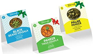 PANEER TIKKA MASALA, PALAK PANEER, BLACK BEANS CURRY INDIAN FOOD SPICES by Flavor Temptations. Cook a Variety with Beginne...