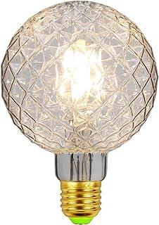 Bombillas LED Bombilla de luz vintage Globo de cristal Bombilla Edison 4W 220 / 240V E27 Bombilla decorativa blanca cálida (G95 Clear)