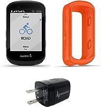 Wearable4u Garmin Edge 530 GPS Cycling Computer with Included Original Garmin Silicone Case Wall Charging Adapter Bundle