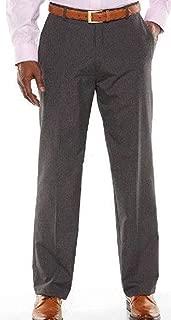 Mens 1926 Originals Flat Front Straight Fit Gabardine Dress Pants, 34x34, Gray