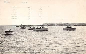Ogallala Nebraska Kingsley Dam Boating Antique Postcard K86238