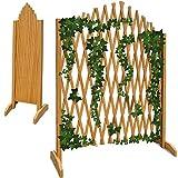 Treillage jardin brun 180x107cm support plantes grimpantes brise-vue pliable Clôture...