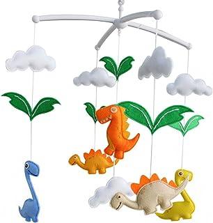 Jouets pour bébés, [Dinosaure] Berceau rotatif mobile, décor créatif, coloré