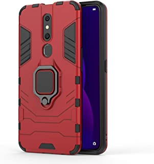 OPPO F11 Pro Case,Shockproof anti-skid PC and TPU two-in-one Protective case with 360 Degree rotatable Metal Finger Ring S...