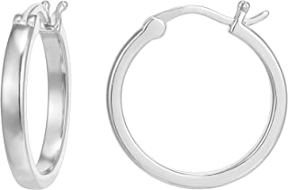 14K Gold Plated 925 Sterling Silver Post Lightweight Hoops | Gold Hoop Earrings for Women