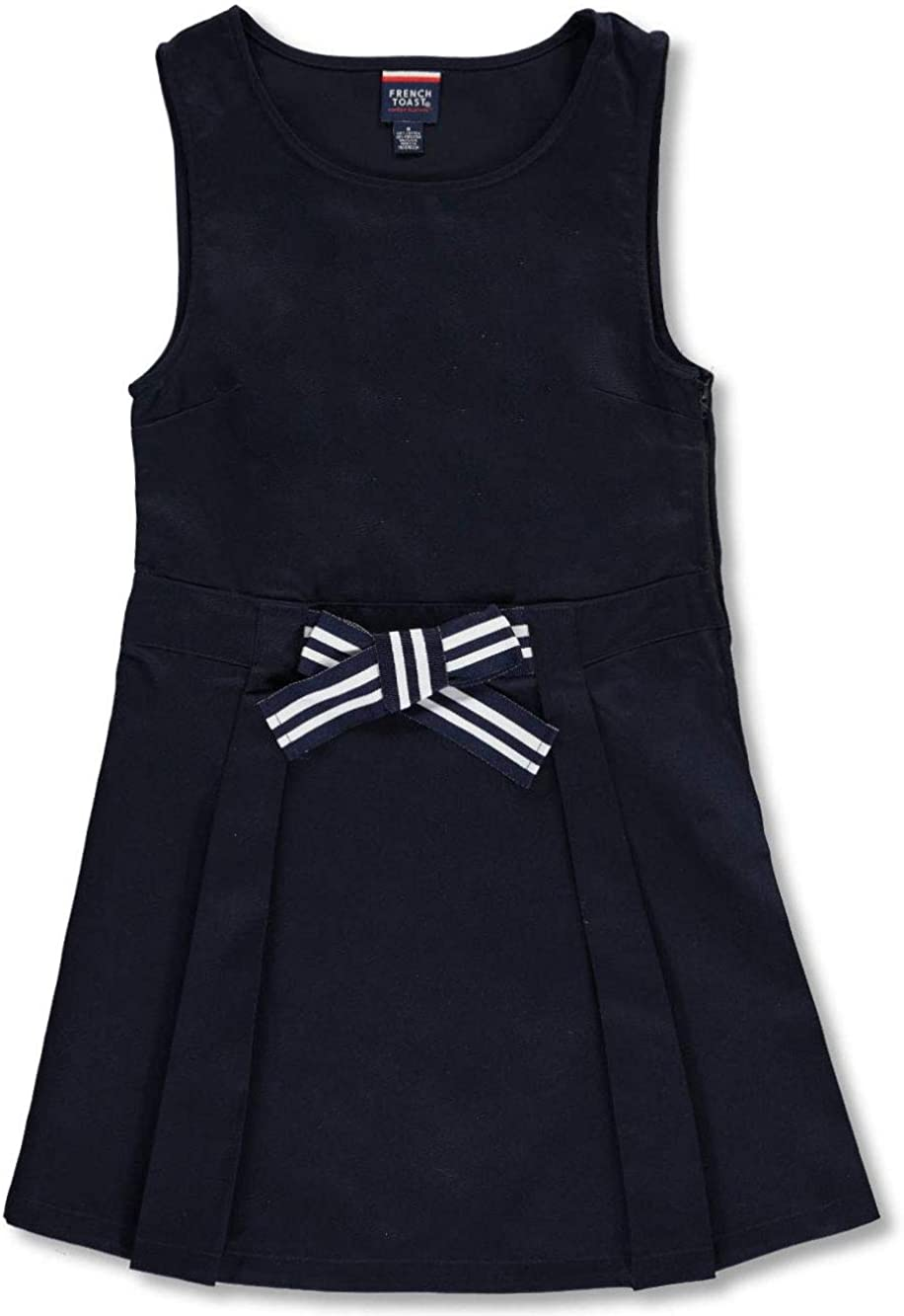 French Toast Girls Bow Front A-Line Jumper