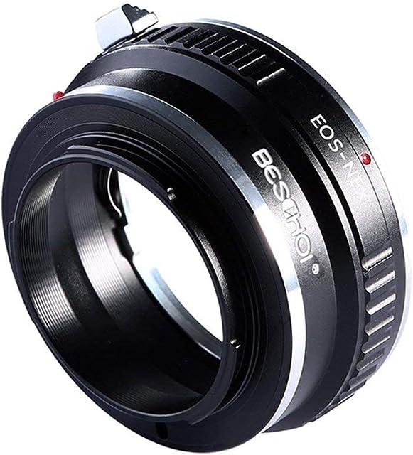 Beschoi Adaptador de Lente para Canon EOS Lentes a Sony Alpha NEX E-Camera para Sony NEX-3 NEX-5 NEX-5N NEX-7 NEX-7N NEX-C3 NEX -F3 Videocámara Sony NEX-VG10 VG20