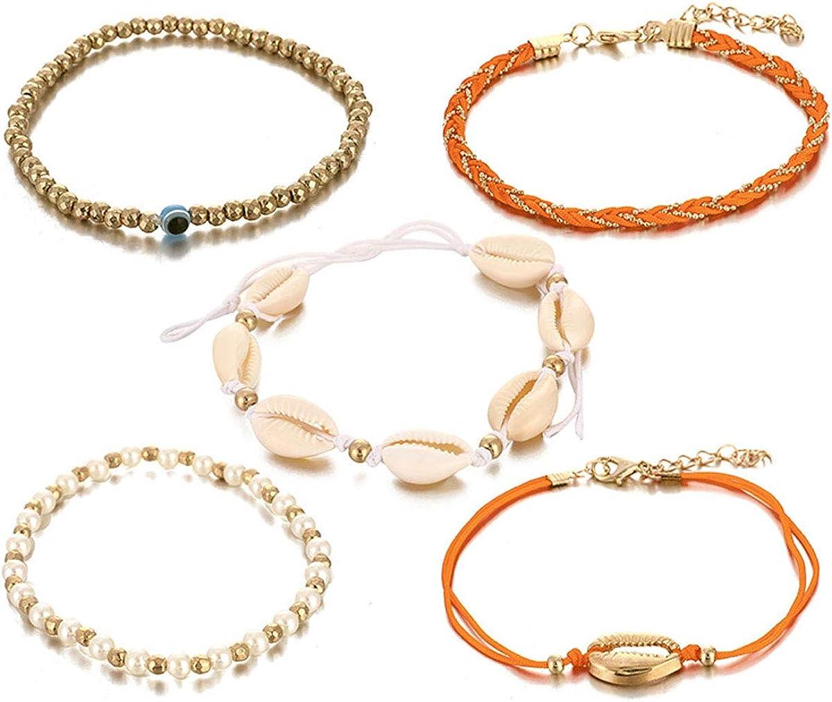Lovogue Star Shell Anklets Bracelets Girls Women 5 ☆ popular for Puka Croche Cash special price
